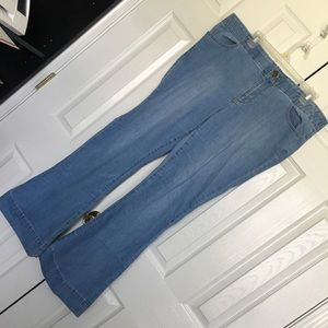 Forever 21 + Flare Light Wash Jeans